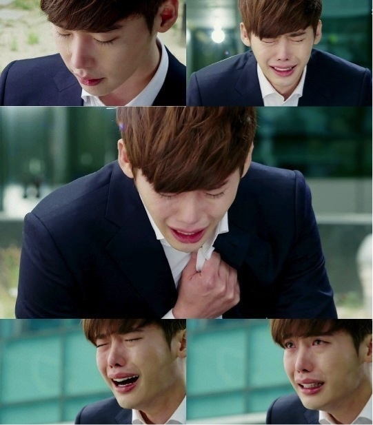 Pinocchio lee jong suk bawls in memory of late father